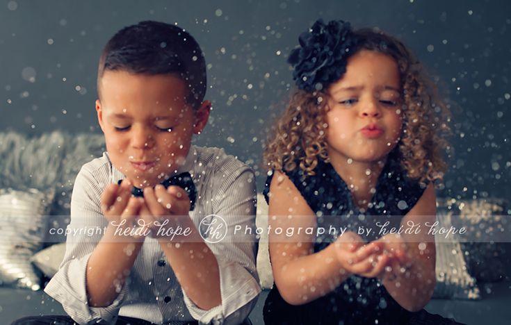 2 of my favorite kiddos.  Glitter = magic!  Heidi Hope Photography  #photogpinspiration