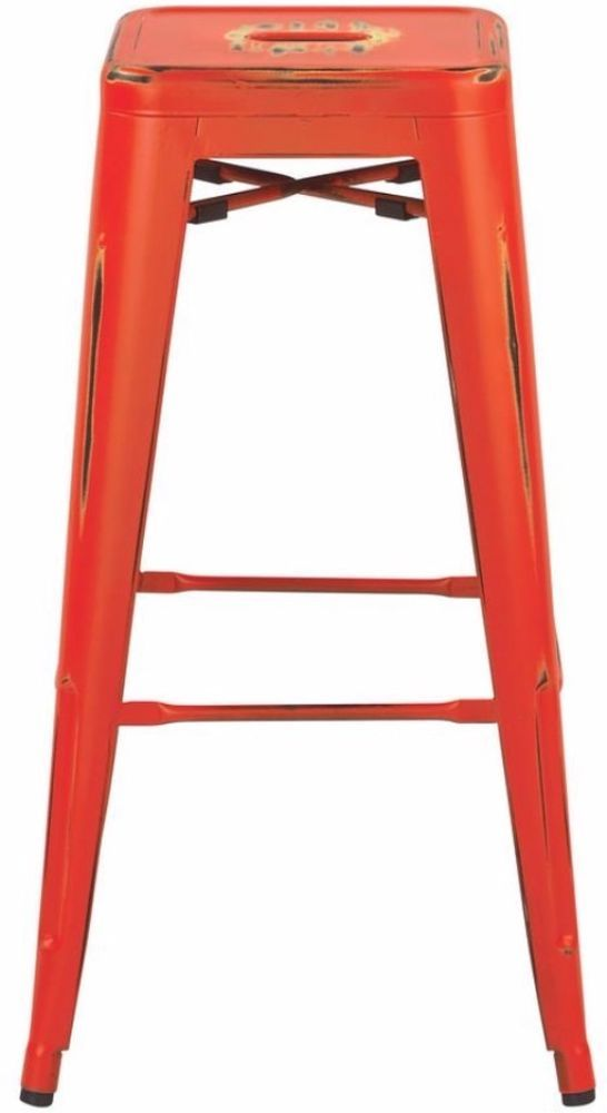 Comfortable Seat Backless Style Antique Orange Bar Stool 30 Inches (Set of 2)#BarStool #Comfortable #Antique #Backless #Orange #Seat #Stools #Furniture #BarStool #Kitchen #Dining #Home #HomeDecor #30Inches #Setof2