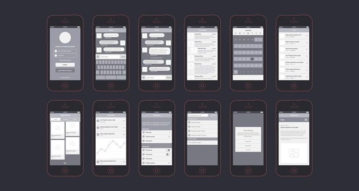 App Wireframes Kit AI PNG mockup free template