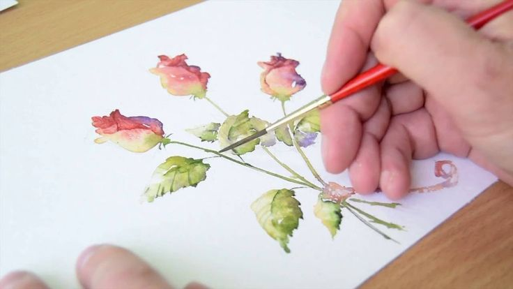 Simple Loose Watercolours 'Gather Ye Rosebuds' with Andrew Geeson
