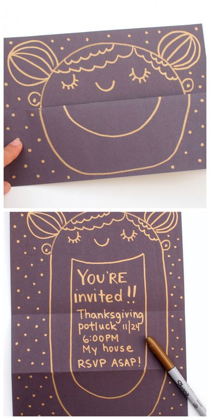 surprise smiling face cards -fun kid made craft where you open the card to reveal a hidden message inside