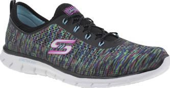 Skechers Black And Blue Glider Deep Space Womens Skechers send another colourfully fun style our way, in the form of the Glider Deep Space. The multi-coloured fabric upper forms a sock-like construction for a secure fit, with bungee lacing for slip- http://www.comparestoreprices.co.uk/january-2017-8/skechers-black-and-blue-glider-deep-space-womens.asp