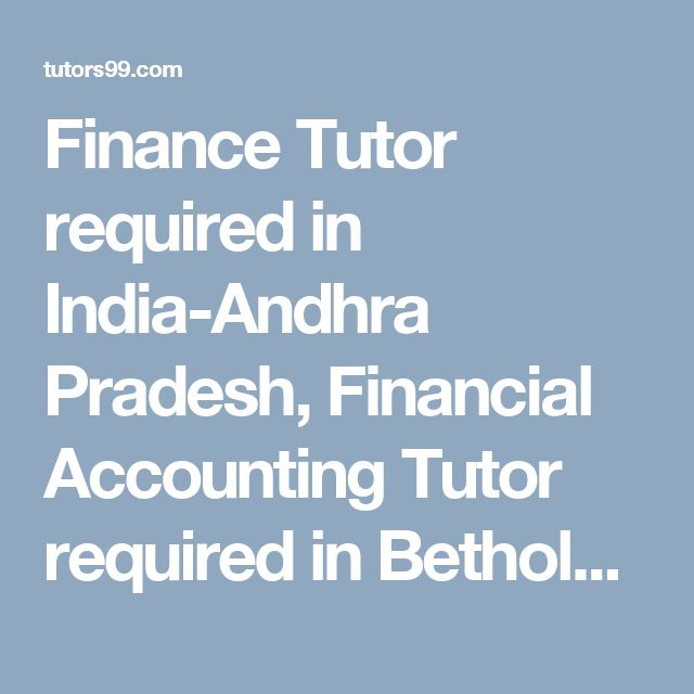 Finance tutor online