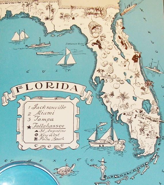 vintage map, $21