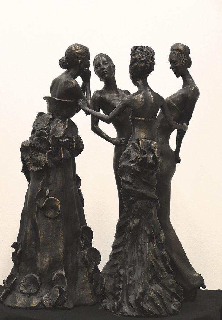 The Florence Studio Sculpture, bronze, portrait, realist Frank Rekrut, Florence, Italy almnus of The Florence Academy of Art Florence Art Studio