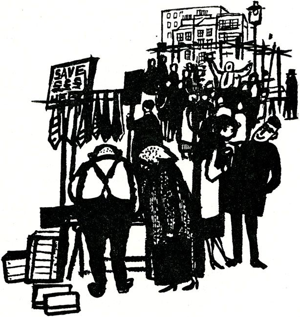 'Petticoat Lane Market' by James Boswell from 'All This and the Family Too' by Betty Holt. Paul, 1960