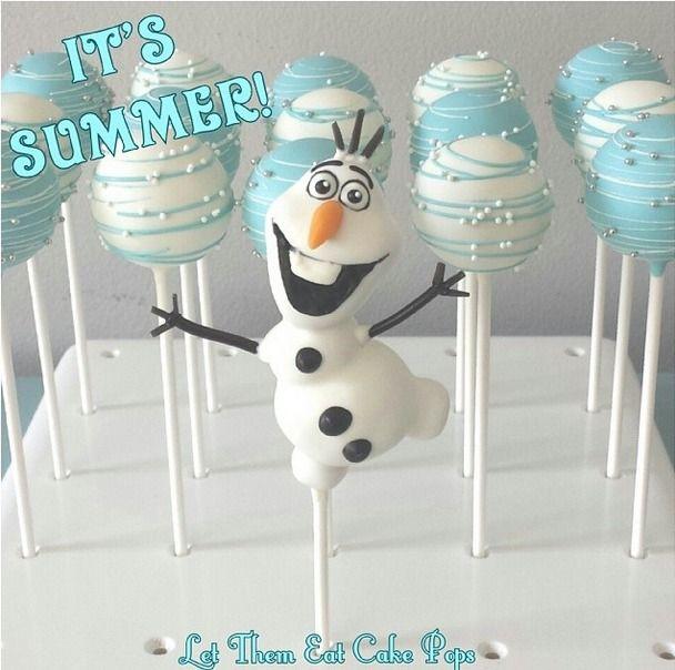 Disney Frozen Olaf cake pop