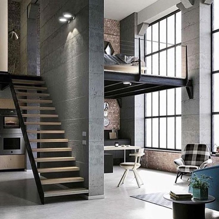 Loft Living ‪#‎thecoolhunter‬ Loft, ideas, home, house, apartment, decor, decoration, indoor, interior, modern, room, studio.