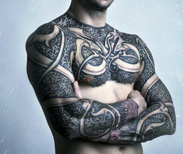 Full Body Armor Tattoo Designs For Men