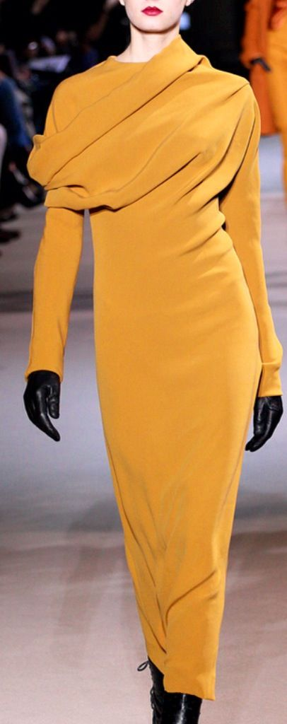 Wow I need this dress; I have just the hat to match it!!! qb Haider Ackermann
