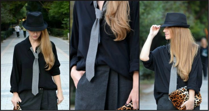 ♥Posted by La Grèce J'aime and barefoot duchess!  You can find it here: http://www.helmi.gr/πουκαμισο-μμ-φαρδυ-με-γραβατα  http://lagrecejaime.com/roaring-gangsta/ http://www.pinterest.com/doukissa/