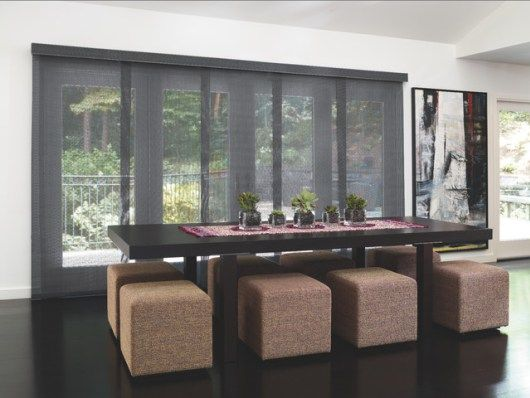panel track blinds for sliding glass doors