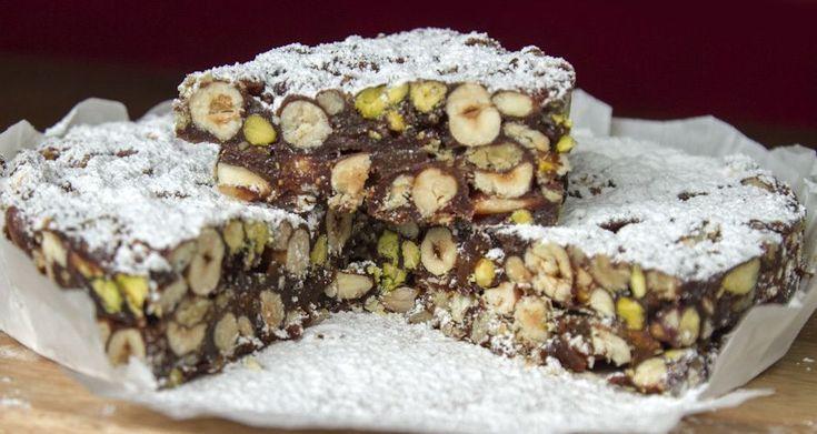 Panforte με σοκολάτα (αντί για μέλι: φυτικό γλυκαντικό)