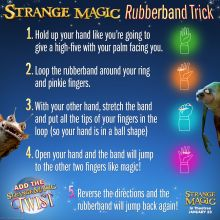 Strange Magic Rubber band Trick Free Printables SKGaleana