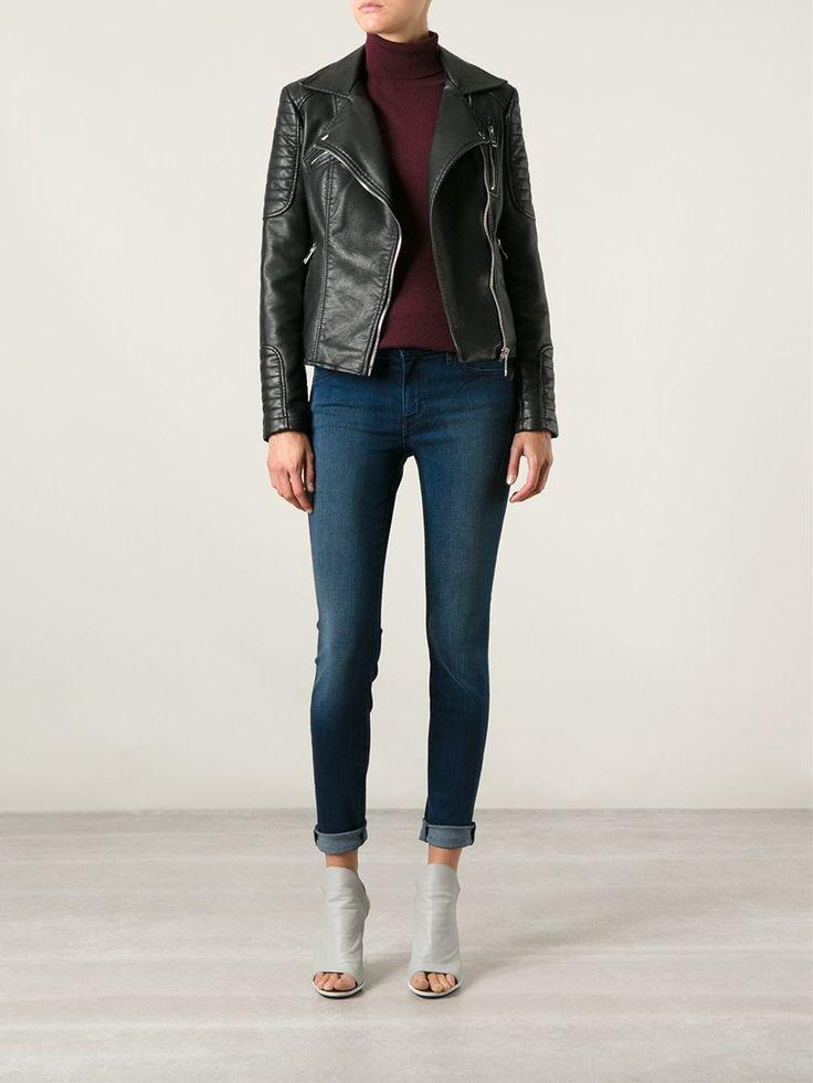 Blue cotton blend skinny jeans from Koral