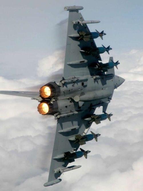zainisaari: Eurofighter Typhoon shows off it's load.