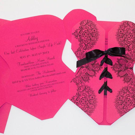 Invitation de fête de lingerie