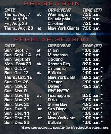 Patriots 2014 Schedule Announced!