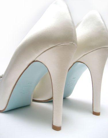 Something Blue Bridal Ideas Christian Louboutin #weddings #somethingblue