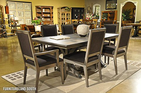 Saloom Furniture Heritage Slate 7 Piece Dining Room Set