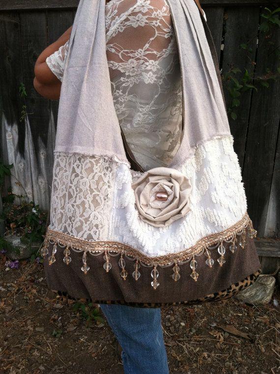 Bohemian Gypsy Hobo Shabby Chic Vintage  by TweetlyTattered, $65.00