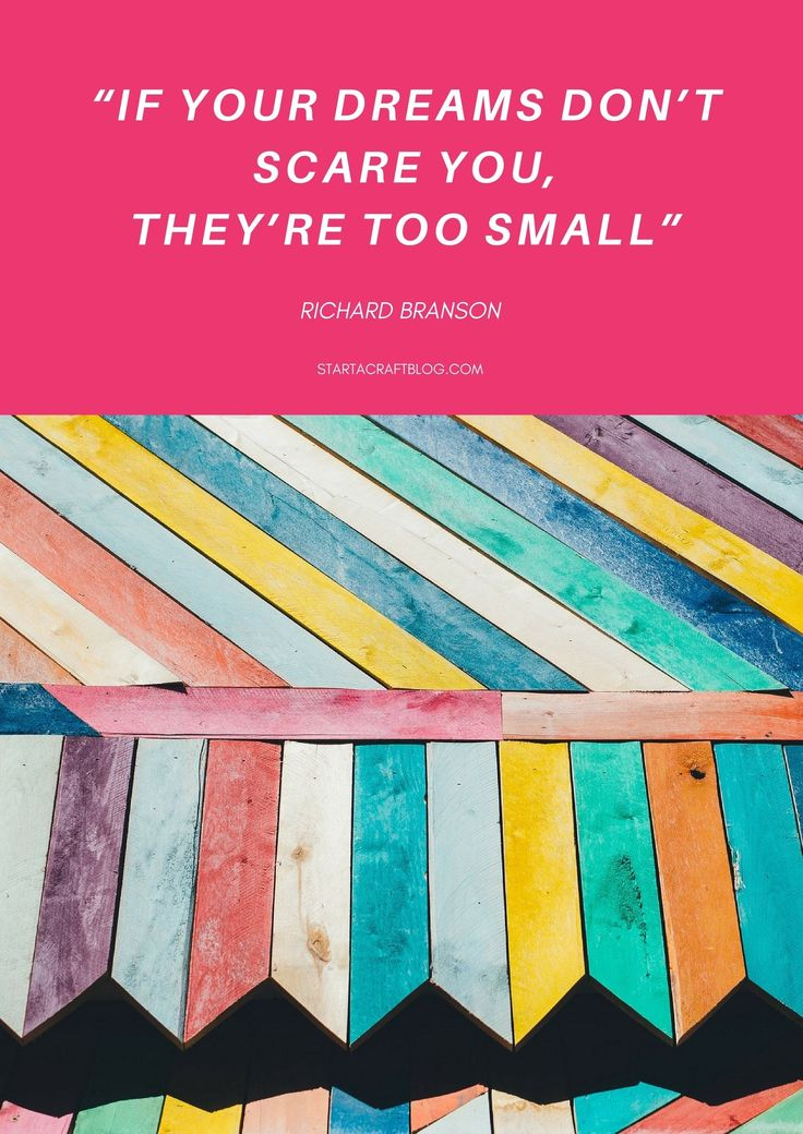 Richard Branson Quote - If your dreams don't scare you then they're too small. Learn how to set smarter goals for your business and not make any of these mistakes when it comes to setting goals. Set SMART goals easily!