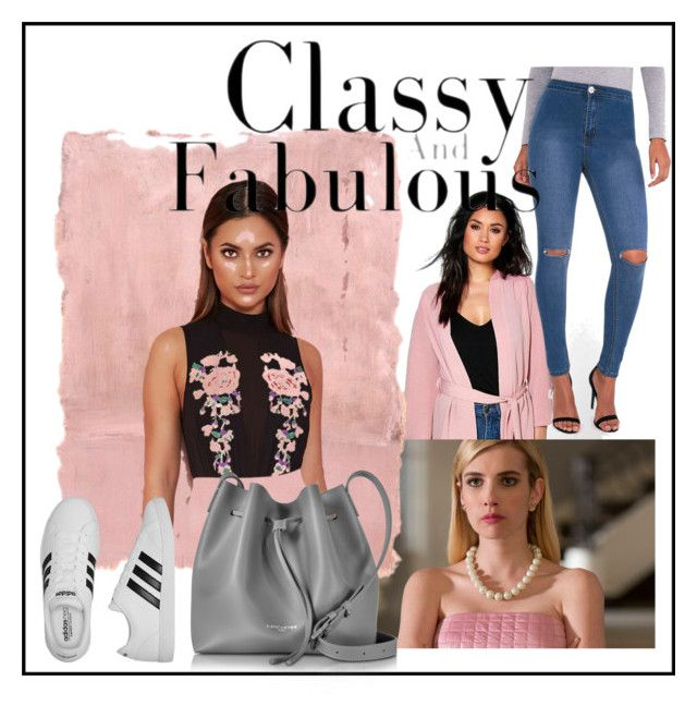 """""""The chanels inspired 3"""" by kiwijulin on Polyvore featuring Boohoo, Rothko, Lipsy, adidas and Lancaster"""