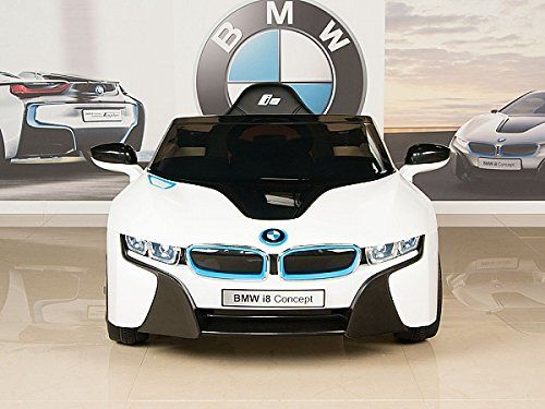 BMW i8 12V Kids Ride On Battery Powered Wheels Car RC Remote White  http://www.bestdealstoys.com/bmw-i8-12v-kids-ride-on-battery-powered-wheels-car-rc-remote-white-3/