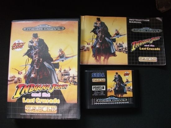 INDIANA JONES AND THE LAST CRUSADE -  for SEGA MEGA DRIVE - Boxed with Instruct.