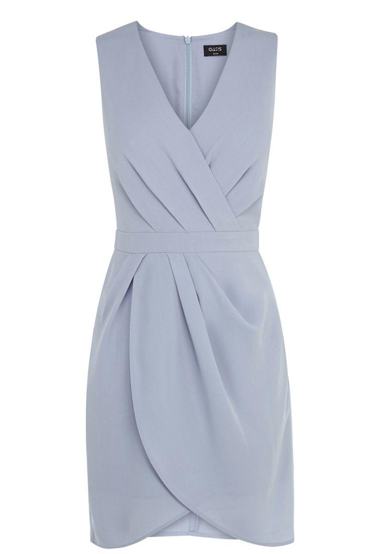 Grey wrap shift dress