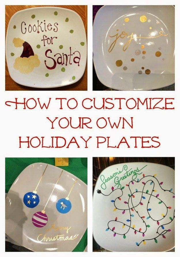 Preserve your little one's precious artwork forever on custom plates like these.   23 DIY Holiday Gifts Your Family Can Make At Home