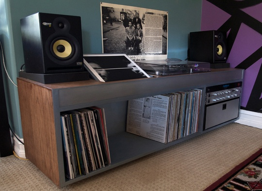 jesse 39 s custom built technics sl 1210 cabinet cabinets. Black Bedroom Furniture Sets. Home Design Ideas