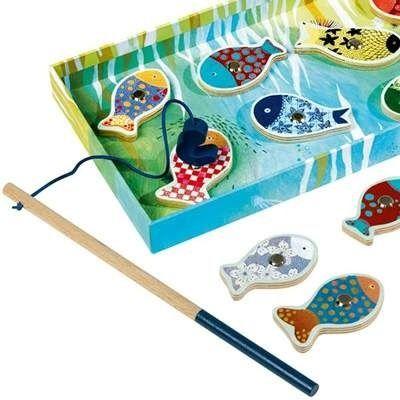 Joc de pescuit magnetic DJECO Fishing Dream: cheama micul pescar la o zi relaxanta langa lac :)