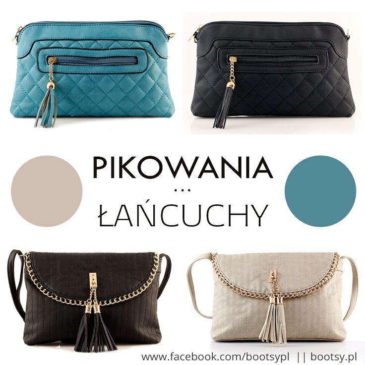 Klasyka, czyli torebki pikowane, które nieodzownie królują w damskich garderobach + niezwykle ozdobne łańcuchy, stawiące integralną część torebki #pikowane #torebki