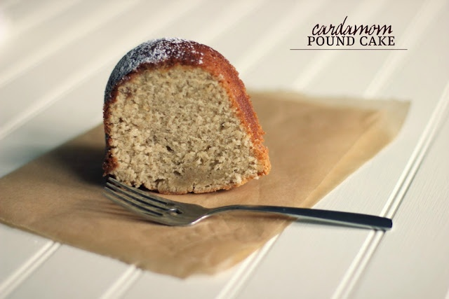 Cardamom Pound Cake with Orange Glaze a Spice Hunter recipe adapted by The Vanilla Bean Blog  sooo Yum!