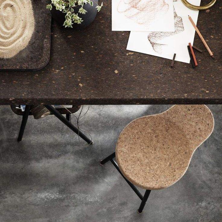 chaise de bois design en liège par Ikea