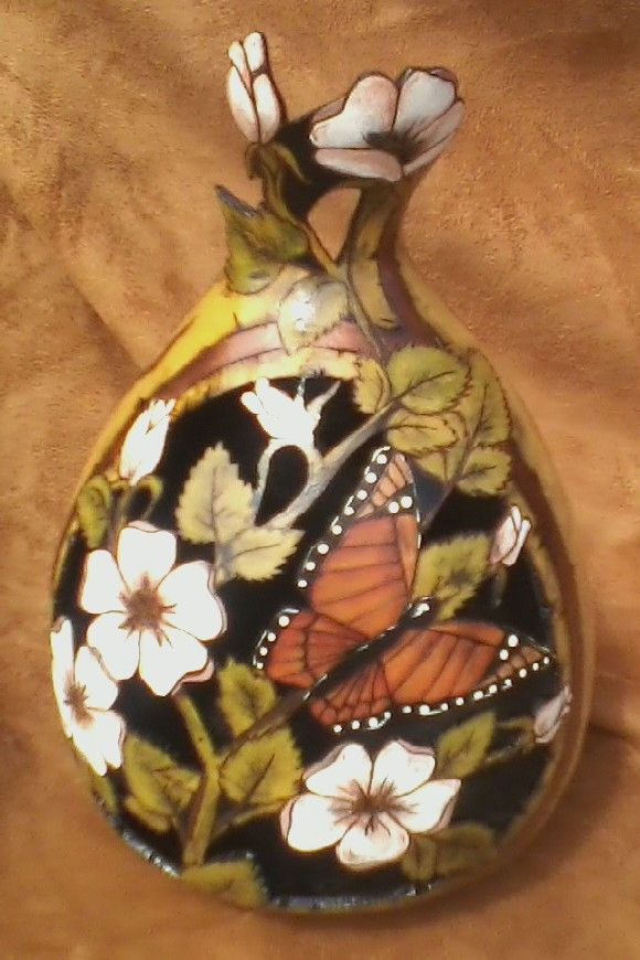 Looking for Gourd Patterns | Wild Roses - Gourd Art Enthusiasts