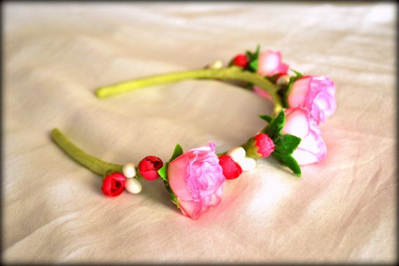 Floral Headband Woodland Headband Wedding by MarianaHandmade, $16.00