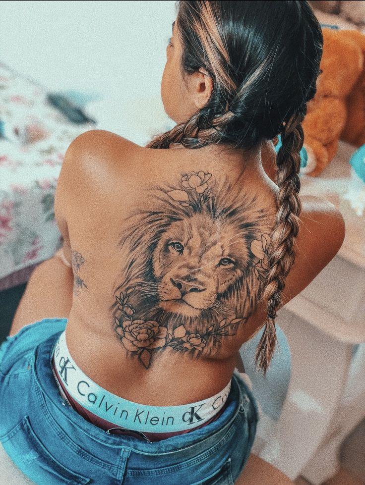 Tatto feminina em 2020 | Tatto de leao, Tatuagem leão nas costas, Fotos de tatu