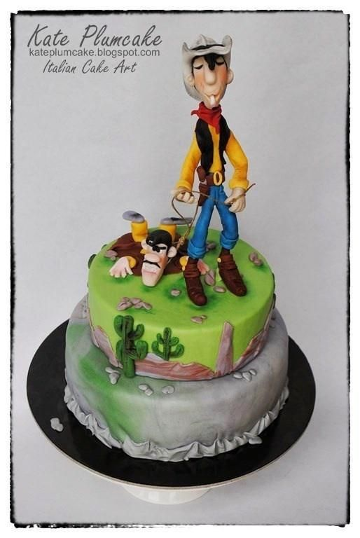 Lucky Luke  - Cake by Kate Plumcake