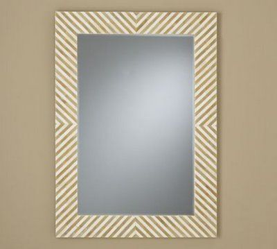 paint mirror frame to look like this