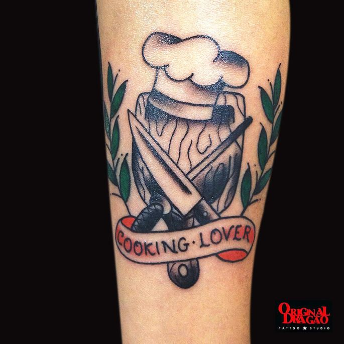 Tattoo Old School - Cooking Lover - Hudson Mateus | Original Dragão Tattoo Studio