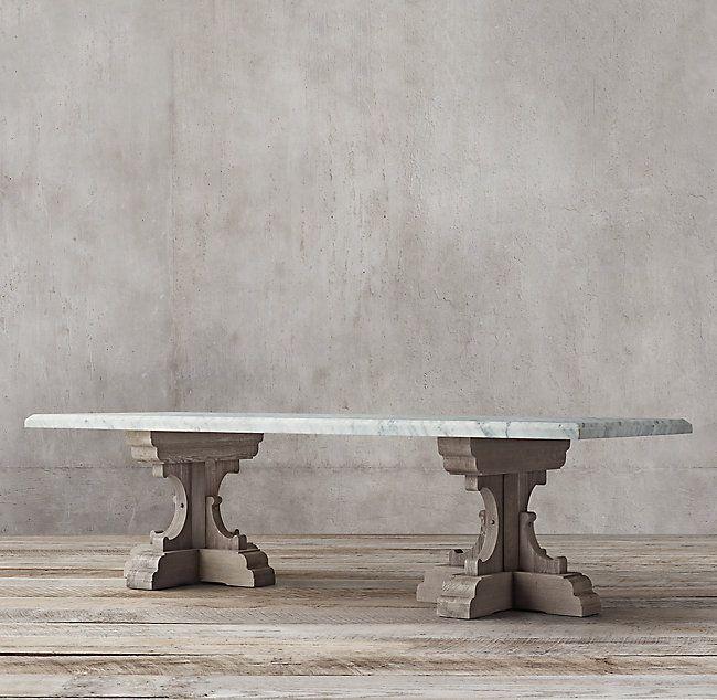 17th C French Bastide Oak Marble Rectangular Dining Table 120 Dining Table Marble Dining Table Marble Dining