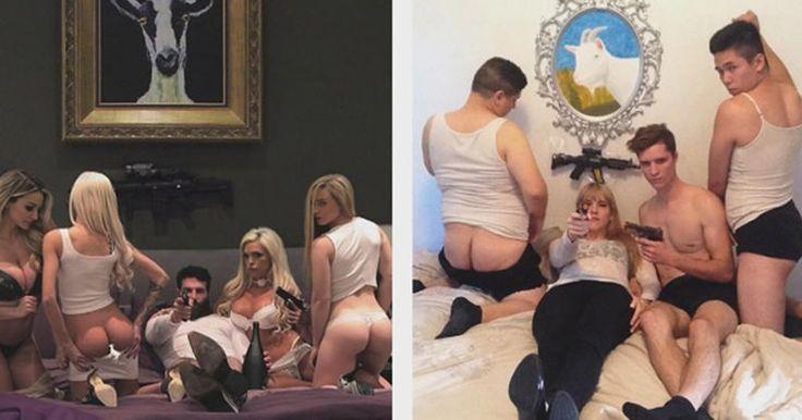 [Zone 42] Elle parodie les photos machos et sexy de Dan Bilzerian !
