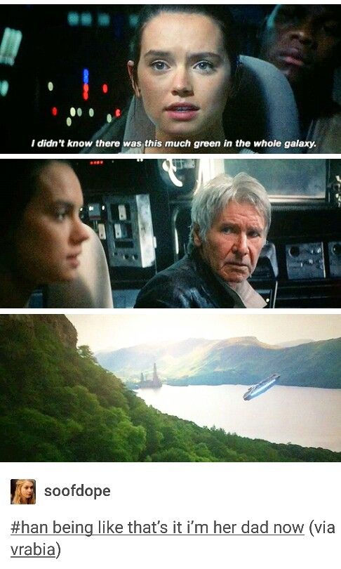 Rey and Han. I wish they'd had more time together.