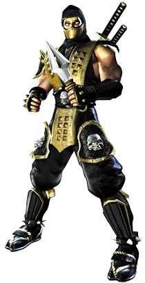Scorpion Official Render Art from Mortal Kombat Deadly Alliance |