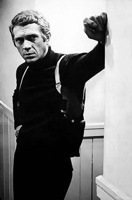 Steve McQueen in BULLITT (1968) The only thing cooler than this picture is the Mustang/Charger car chase in the film.