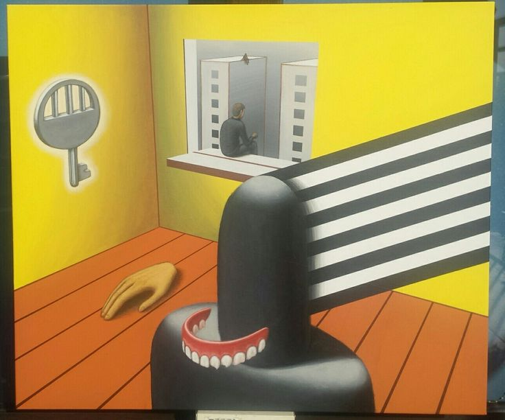 """Franciszek Grzesiak, """"Exit"""" 60x70 cm, acrylic on canvas"""