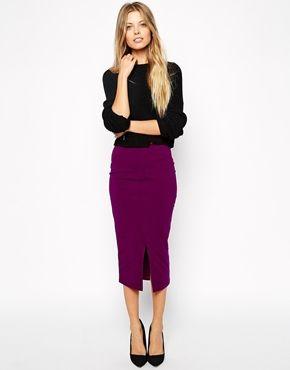 Enlarge ASOS Midi Pencil Skirt with Front Split