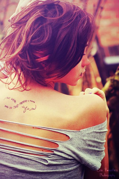 Sexy Back Quote Tattoos for Girls - Hot Back Quote Tattoos for Girls